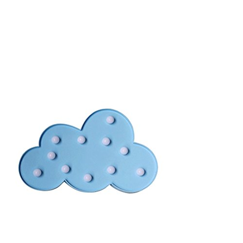 Frcolor Cloud Night Light for Christmas Home Wedding Party Decoration Blue