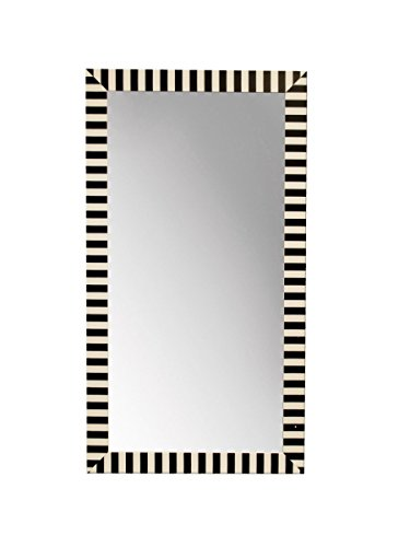 StealStreet SS-KI-OF512 Small Striped Standing Mirror