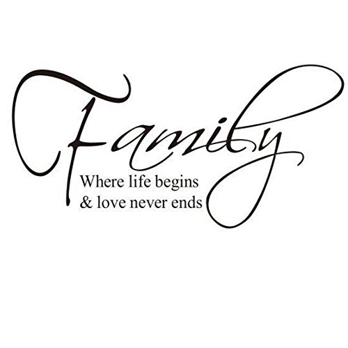 Family Quote Sticker Removable Vinyl Wall Decals Letter Wall Art Inspirational Home Decor For Home Office Dorm Or Any Wall12 X 24