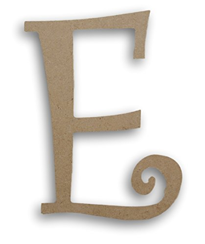 MPI Wood Pressed Wood Initials Wall Decor - 75 Curvy E