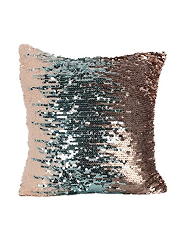 Menglihua Glitzy Magical Color Changing Reversible Paillette Sequin Mermaid Square Throw Pillow Covers J Charm1 40 X 40CM