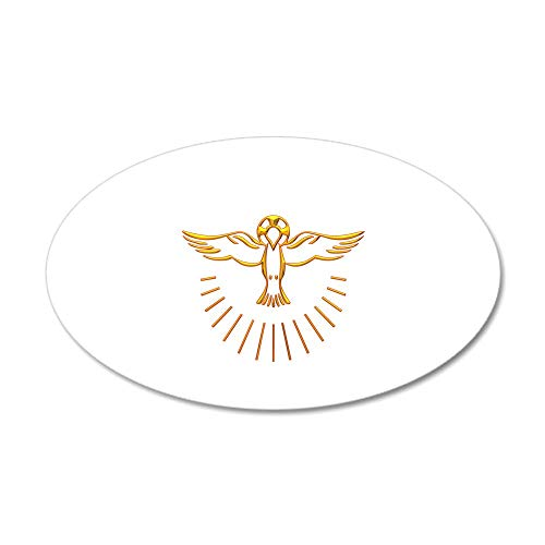 CafePress Ascent of The Holy Spirit 20x12 Oval Wall Decal Vinyl Wall Peel Reusable Wall Cling
