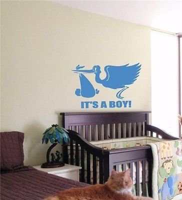 Its a Boy Kids Wall Art Sticker Baby Room Nursery 10