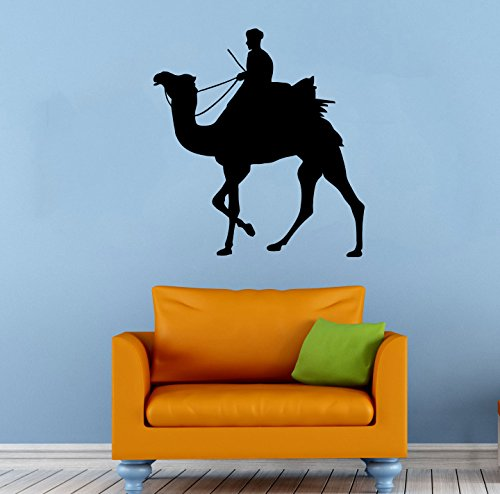 Camel Rider Wall Decal Housewares Interior Home Decoration Animal Vinyl Sticker Removable Decor 025cml