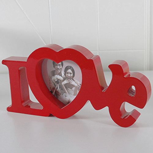 All Smiles Red Love Wood Picture Frame4x4 Photo FramesHeart Shape
