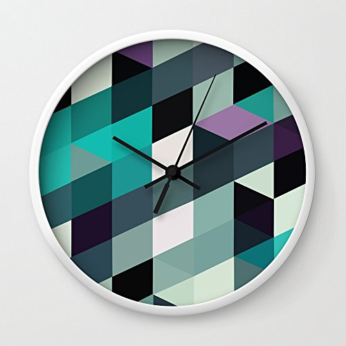 Society6 What Is Love Wall Clock White Frame Black Hands