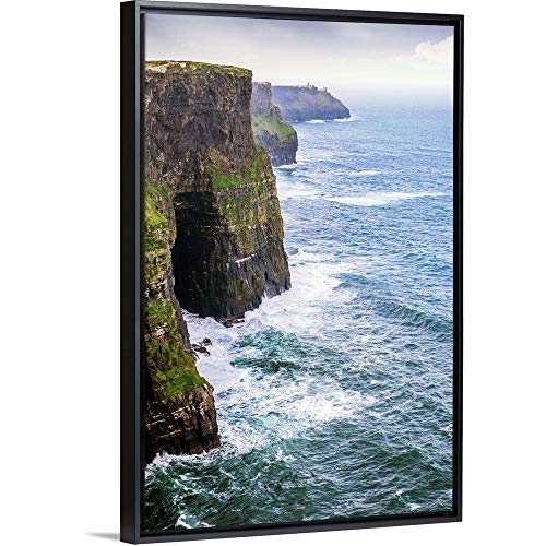 The Cliffs of Moher County Clare Ireland Black Floating Frame Canvas Art 18x26x175