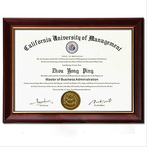 Document Frame Degree Frame Holder Certificate Solid Wood 85 x 11 inch Used in Colleage